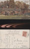 848) HAMPSHIRE SWAN GREEN LINDHURST VIAGGIATA 1932 IN RILIEVO BELLISSIMA - Non Classificati