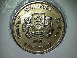 Singapore 5 Cents 1989 - Singapur