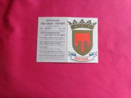 Calendrier1969-boucherie Cousson A Ruffec -ecusson Auvergne - Calendriers