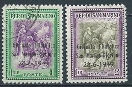 1949 SAN MARINO USATO GIORNATA FILATELICA RICCIONE - VA19 - Used Stamps