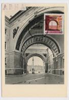 CARTE MAXIMUM CM Card USSR RUSSIA Architecture Petersburg Leningrad Arch Main Staff Hermitage - 1923-1991 URSS