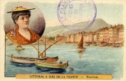 83 TOULON Image 7x10.5 Cm Littoral Et Iles De La France  PORT Et COIFFE - Toulon