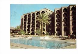 Maroc Souvenir De MARRAKECH - 1986 - Hôtel Piscine Tennis De Table Ping-pong Joueurs Raquette - Table Tennis