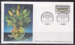 = 10ème Congrès Forestier Mondial Enveloppe 1er Jour Paris 22.9.91 N°2725 Composition Symbolique - FDC