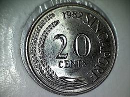 Singapore 20 Cents 1982 - Singapur