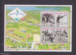 Aland Finland 1991 Island Games Sports S/s Mi#1 MNH - Aland