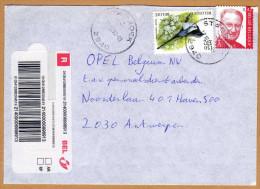 Enveloppe Cover Brief Aangetekend Registered Recommandé Oiseau Buzin Stabroek - Belgique