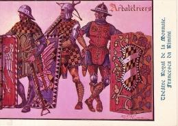ARBALETRIERS-TIR A L´ARC-ILLUSTRATEUR JAMES THIRIAR-THEATRE DE LA MONNAIE-FRANCESCA DA RIMINI - Tir à L'Arc