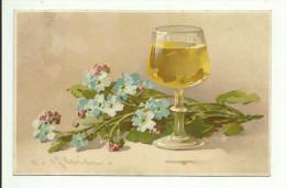 C. Klein * Catharina Klein * Meissner & Buch * Serie 1646 * Beim Glase Wein * 1910 - Klein, Catharina