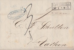 Brief Goldberg R2 19.7. Gel. Nach Aachen - Deutschland