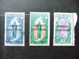 OUBANGUI - UBANGI 1915/18 Yvert Nº 8 º +13 *+ 17 * - Unused Stamps