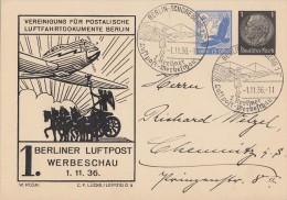 DR Privat-Ganzsache Minr.PP139 C1 SST Berlin 1.11.36 - Deutschland