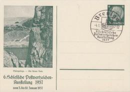 DR Privat-Ganzsache Minr.PP127 C24 SST Breslau 4.1.37 - Deutschland