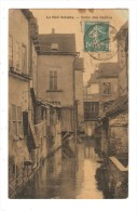 CPA : 80 AMIENS  Le Vieil Amiens - Canal Des Coches : Petit Canal Entre Des Maisons Colorisée - Peu Commune - Amiens