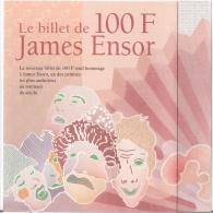 DEPLIANT (BILLET De 100 FRANCS) édité Pour Rendre Hommage à James ENSOR. - Belgique
