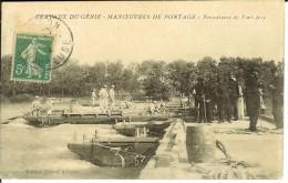 CPA  Travaux Du Génie, Manoeuvres De Pontage, Fermetures De Portières   9313 - Manovre