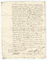 Année 1767 - Ecrit à Déterminer, 1 Page, Papier Filigrané - Manuscrits
