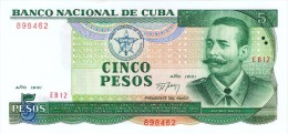 "1991 - 5 PESOS  "" BANCO NACIONAL ""  UNCIRCULATED  ( SIN CIRCULAR ) - Cuba"