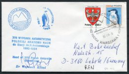 1993 Poland Warsaw Antarctic Expedition Signed Penguin Cover - Events & Commemorations