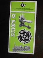 Folder Postzegeluitgifte: EUROPA CEPT 1983 Schilderijen P. Delvaux / Stamp Bulletin: Europa CEPT 1983 Paintings Delvaux - Autres Livres
