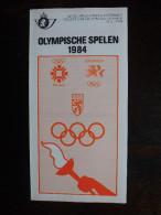 Folder Postzegeluitgifte: 1984 Olympische Spelen / Stamp Bulletin: 1984 Olympic Games - Autres Livres