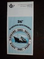 Folder Postzegeluitgifte: Scheepvaartcongres 1985 / Stamp Bulletin: 1985 Shipping Conference - Timbres