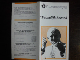 Folder Postzegeluitgifte: Pauselijk Bezoek Aan België / Stamp Bulletin: Visit Of Pope John Paul II - Autres Livres
