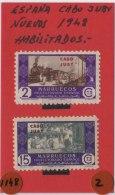 CABO JUBY - AÑO 1948 - HABILITADOS - COMERCIO - Cape Juby