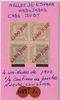 CABO JUBY - AÑO 1902- HABILITADOS - Cape Juby