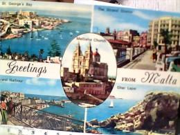MALTA GREETINGS  VUES    V1970  EW1904 - Malte