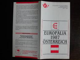 Folder Postzegeluitgifte: Europalia 1987 Oostenrijk / Stamp Bulletin: Europalia 1987 Austria - Timbres