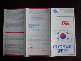 Folder Postzegeluitgifte: Olympische Spelen 1988 / Stamp Bulletin: 1988 Olympic Games - Timbres