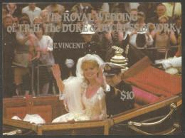 St. Vincent 1986 Mi# Block 40 U ** MNH - Imperf. - Wedding Of Prince Andrew And Sarah Ferguson - Royalties, Royals