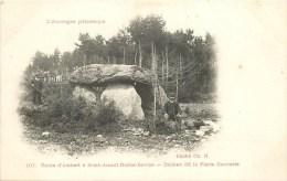 63 - SAINT-AMANT-ROCHE-SAVINE à Ambert  - ** Dolmen De La Pierre Couverte - Animé ** - Cpa - état TB. - France