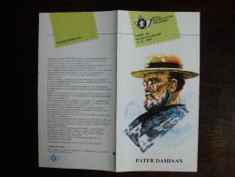 Folder Postzegeluitgifte: Pater Damiaan - Melaatsheid / Stamp Bulletin: Father Damian - Leprosy - Timbres