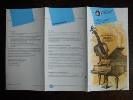 Folder Postzegeluitgifte: Koningin Elisabeth Muziekkapel / Stamp Bulletin: Queen Elisabeth Music Chapel - Timbres