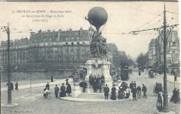 ILE DE FRANCE - 92 - HAUTS DE SEINE -NEUILLY SUR SEINE - Monument Aux Aéronautes Du Siège De Paris 1870 - Neuilly Sur Seine
