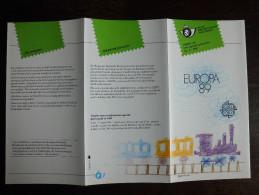 Folder Postzegeluitgifte: Europa CEPT 1989 Kinderspeelgoed / Stamp Bulletin: EUROPA CEPT 1989 Children's Toys - Autres Livres