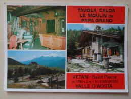 458- Cartolina Vetan Saint Pierre Tavola Calda Le Moulin De Papa Grand Postcard Carte Postale - Alberghi & Ristoranti