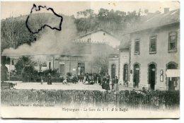 - Meyrargues - La Gare Du S. F. Et Le Buffet, Rare, Animation, Cliché Perret-Richard, Non écrite, BE, Scans. - Meyrargues