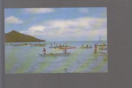 Cpsm ,    La Péche Aux Cailloux à Borabora.... ,  Voyagé - Polynésie Française