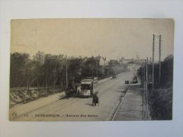 Cpa/pk Dunkerque Avenue Des Bains Tram Tramway - Dunkerque