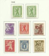 Allemagne Zone Soviétique D´occupation Berlin  N°1 à 7 Neufs Avec Charnière* Cote 2 Euros - Zone Soviétique