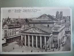 Carte Postale Belgique Bruxelles Théatre Royal De La Monnaie Oblitérée 35 Cent. - Monuments