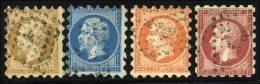 N°13/4, 16, 17B - 4 Valeurs - (P3) - Piquage SUSSE - TB - 1853-1860 Napoléon III
