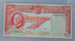 Angola  - Billet Circulé  500  Escudos   10/06/1970   Petit Prix  Défauts** - Angola