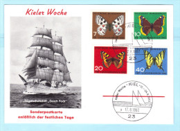BUND BRD 376-379 - SCHIFFSPOST - GORCH FOCK 17.06.1962 Kiel -er Woche (2 Scan)(32196) - Maritiem
