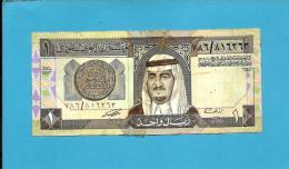 SAUDI  ARABIA - 1 RIYAL - 1984 - Pick 21.d -  Sign. 6 - King Fahd - 2 Scans - Saudi Arabia