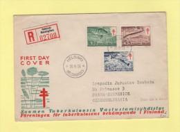 Helsinki - FDC - 26-9-1955 - Poissons - Tuberculose - Finland