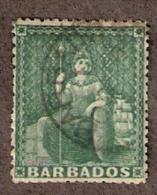 BARB008 Sc 39 & 40  BRITANNIA 1/2p & 1sh WMK 6 - Barbados (...-1966)